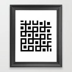 B/W Square loop pattern Framed Art Print