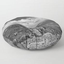 North_Rim Grand_Canyon, AZ - B&W I Floor Pillow