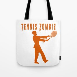 Funny Halloween Tennis Zombie Tote Bag