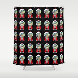 Gumball Machine 2 (Many On Black) Shower Curtain