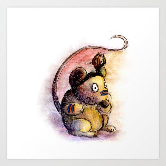 Tribal Mouse Art Print