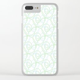 Swirls of Blue and Green Clear iPhone Case