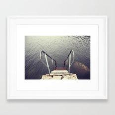 Jump, into the sea Framed Art Print