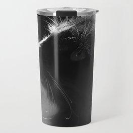Black & White Cat Art Photograph Feline Travel Mug