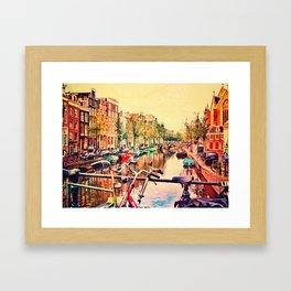 Amsterdam Stroll  Framed Art Print