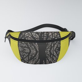 Gothic tree striped pattern mustard yellow Fanny Pack