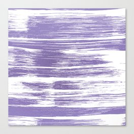 Modern abstract lilac lavender white watercolor brushstrokes Canvas Print
