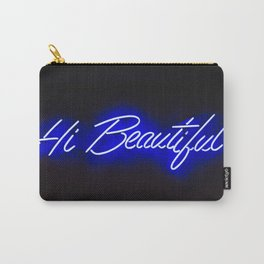 Neon sign inspiration - Hi Beautiful Carry-All Pouch