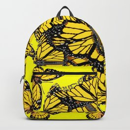 YELLOW MONARCH BUTTERFLY DOG PILE OF WINGS Backpack