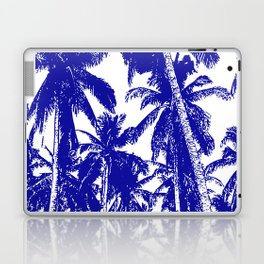 Palm Trees Design in Blue and White Laptop & iPad Skin