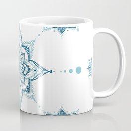 Blue mandala tile Coffee Mug