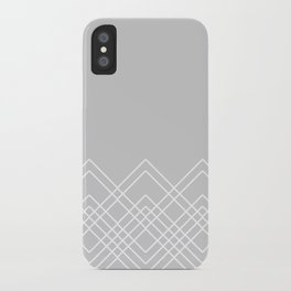 Geometric abstract - gray and white. iPhone Case