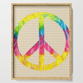 Tie-Dye Peace Sign Serving Tray