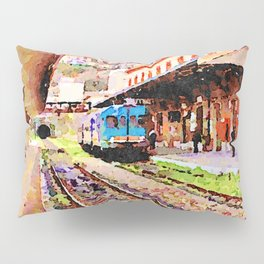 Catanzaro: train at the station Pillow Sham