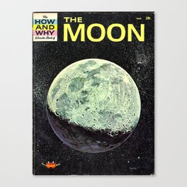 Moon Book Poster Canvas Print