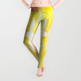 Rainbow Watercolor Texture Pattern Abstract Leggings
