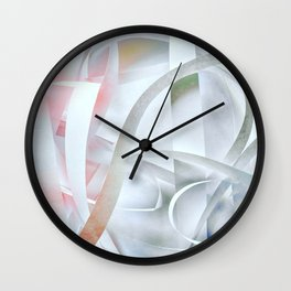 Paper colored pattern Wall Clock