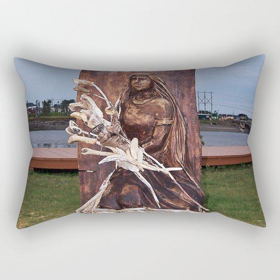 Driftwood Flower Lady Rectangular Pillow