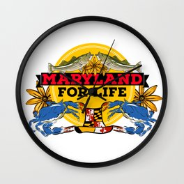 Maryland for Life Wall Clock