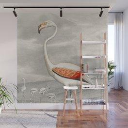 Exotic Flamingo Bird - Minimalism Drawing Wall Mural