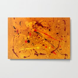 Abstract #2 - Embers Metal Print