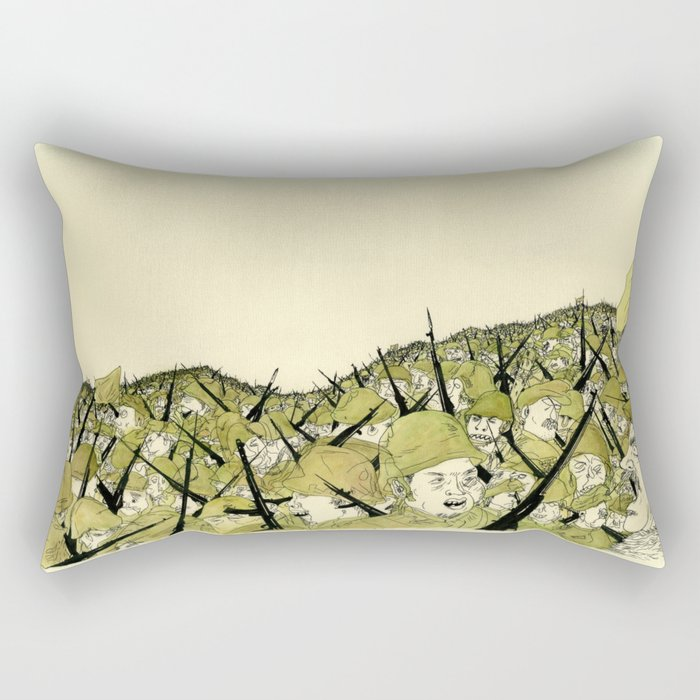 Soldiers Rectangular Pillow