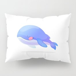 Cute whale. Vector graphic character Pillow Sham