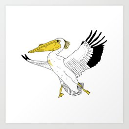 Petra the Pelican Art Print