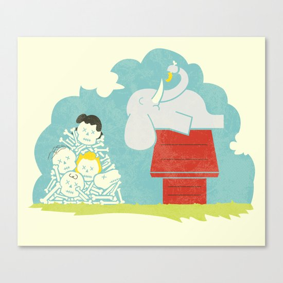 Elephants Love Peanuts Canvas Print
