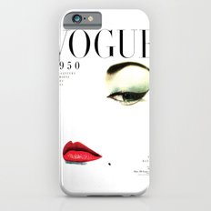 Fashion Print Gift Women Vogue Print Vogue Cover vogue cover 1950 Fashionista Fashion Decor Wall art iPhone 6s Slim Case