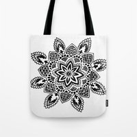 zentangle Tote Bags featuring Zentangle by Cady Bogart