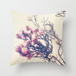 The Crowing Glory of Spring Throw Pillow