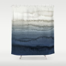 WITHIN THE TIDES - CRUSHING WAVES BLUE Shower Curtain