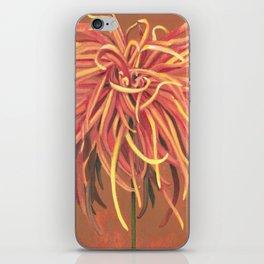 Big Orange Pop Art Chrysthanthemum iPhone Skin