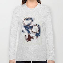 Abstract blue Long Sleeve T-shirt