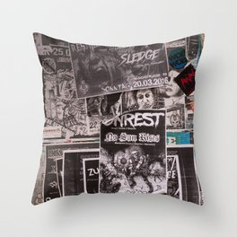 Punk Wall Throw Pillow