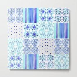 Amalfi Coast Tiles Metal Print