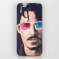 johnny depp iPhone & iPod Skins featuring Johnny Depp by Pazu Cheng