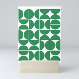 Mid Century Modern Geometric 04 Green Mini Art Print