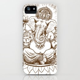 Ganesh: Brown iPhone Case