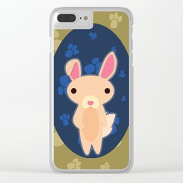 Rabbit with Paw Print Clear iPhone Case