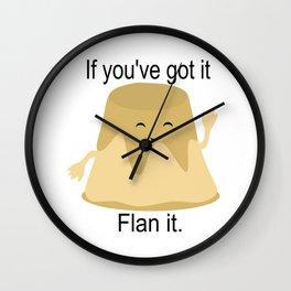 Flan it Wall Clock