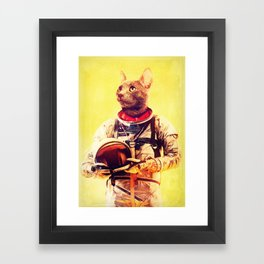Captain Cat Framed Art Print