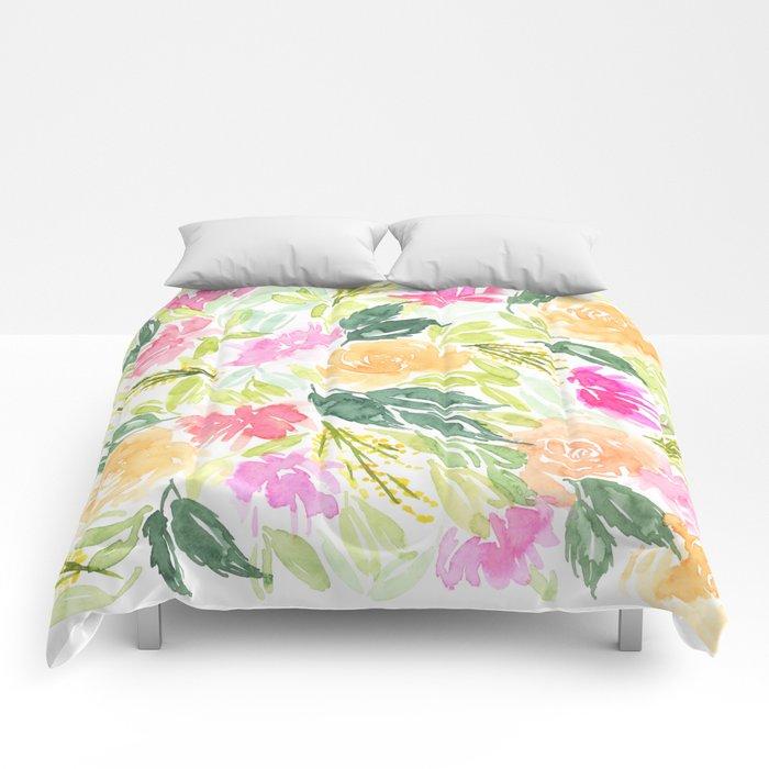 Lost in a flower field Comforters