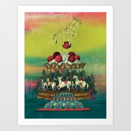 Cherry Go Round Art Print