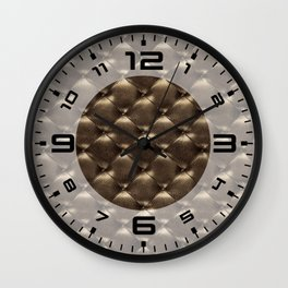 Opulent Tufted 1 Wall Clock