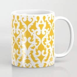 Modern Baroque Yellow Coffee Mug