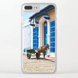 39. Horse Cuban cart, Cuba Clear iPhone Case