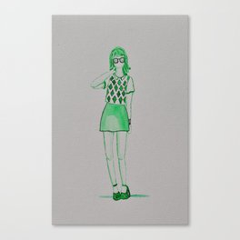 green gal Canvas Print