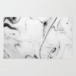 Elegant white marble image Rug